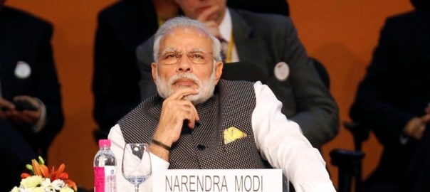 India's Prime Minister Narendra Modi attends the Vibrant Gujarat investor summit in Gandhinagar