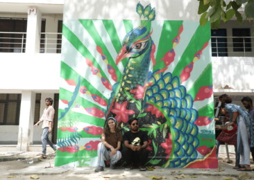 Mexican street art adorns walls of university in Delhi