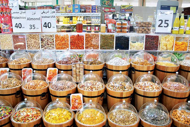 The grocery stores are modern and packed with traditional as well as imported goodies