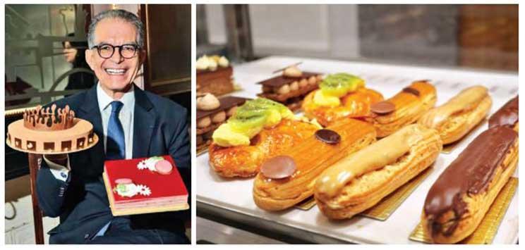 Kazem Samandari, co-fondateur de l'Opéra ; pâtisseries de la boulangerie L'Opéra