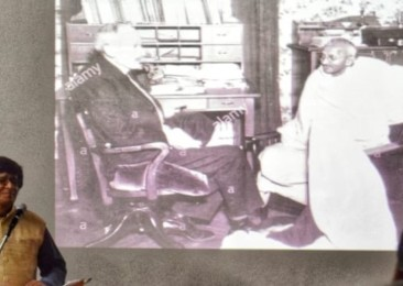 A talk on Gandhi and Rolland