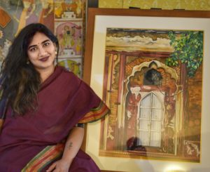 The artist, Dr Bahaar Jain is a doctor, currently working at the National Brain Research Centre