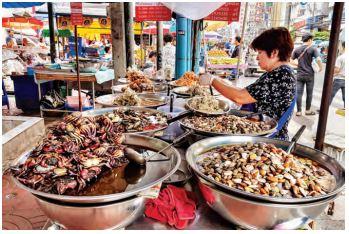 Dried sea food from Bangkok