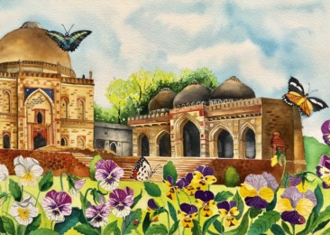 Splashing the colours of medieval Delhi's spring on canvas