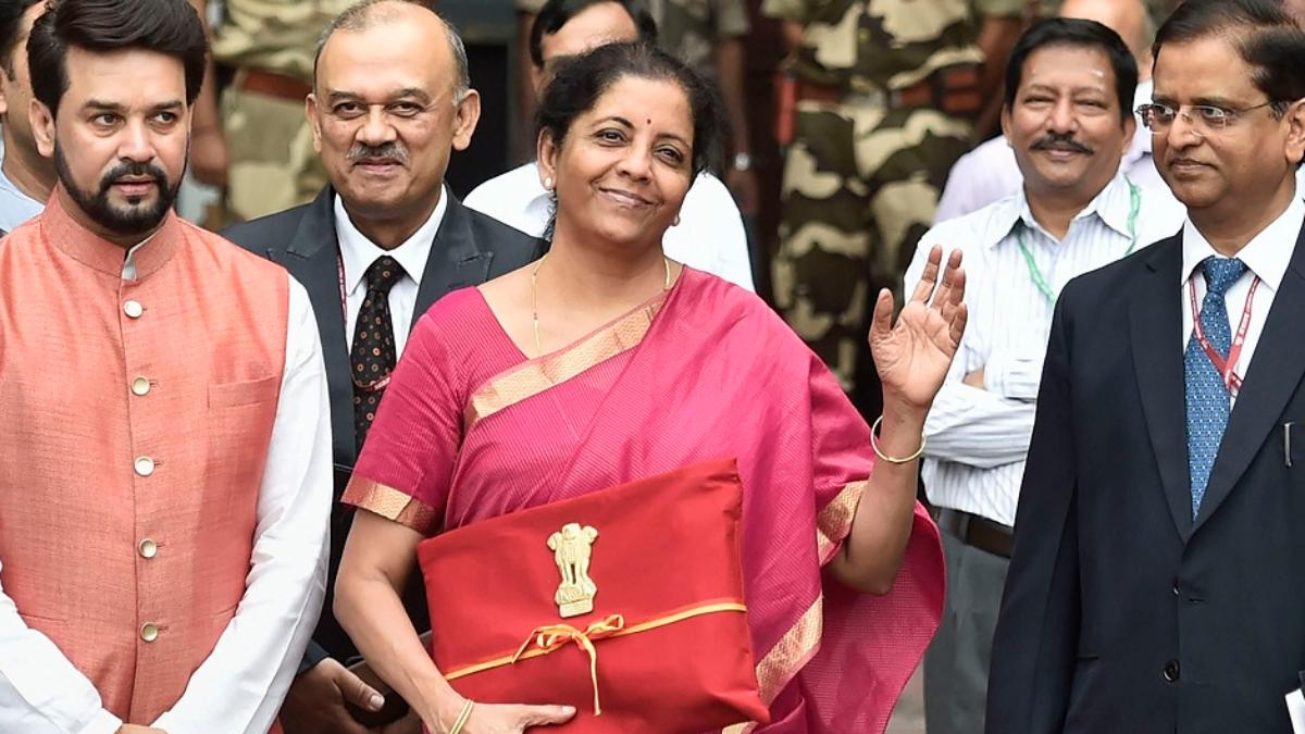 Nirmala Sitharaman ahead of the presentation of Union Budget 2019.