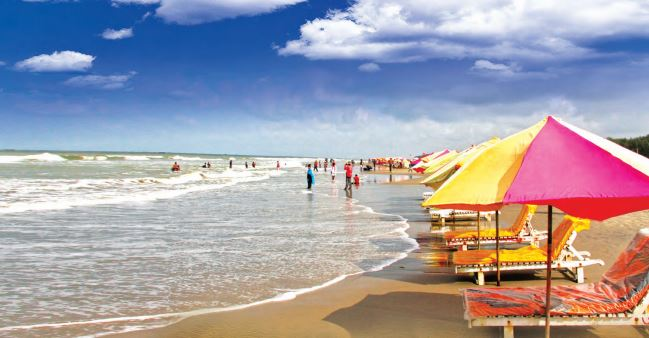 Cox's Bazar with its 120-km long unbroken beach is one of the most visited tourist destinations in Bangladesh