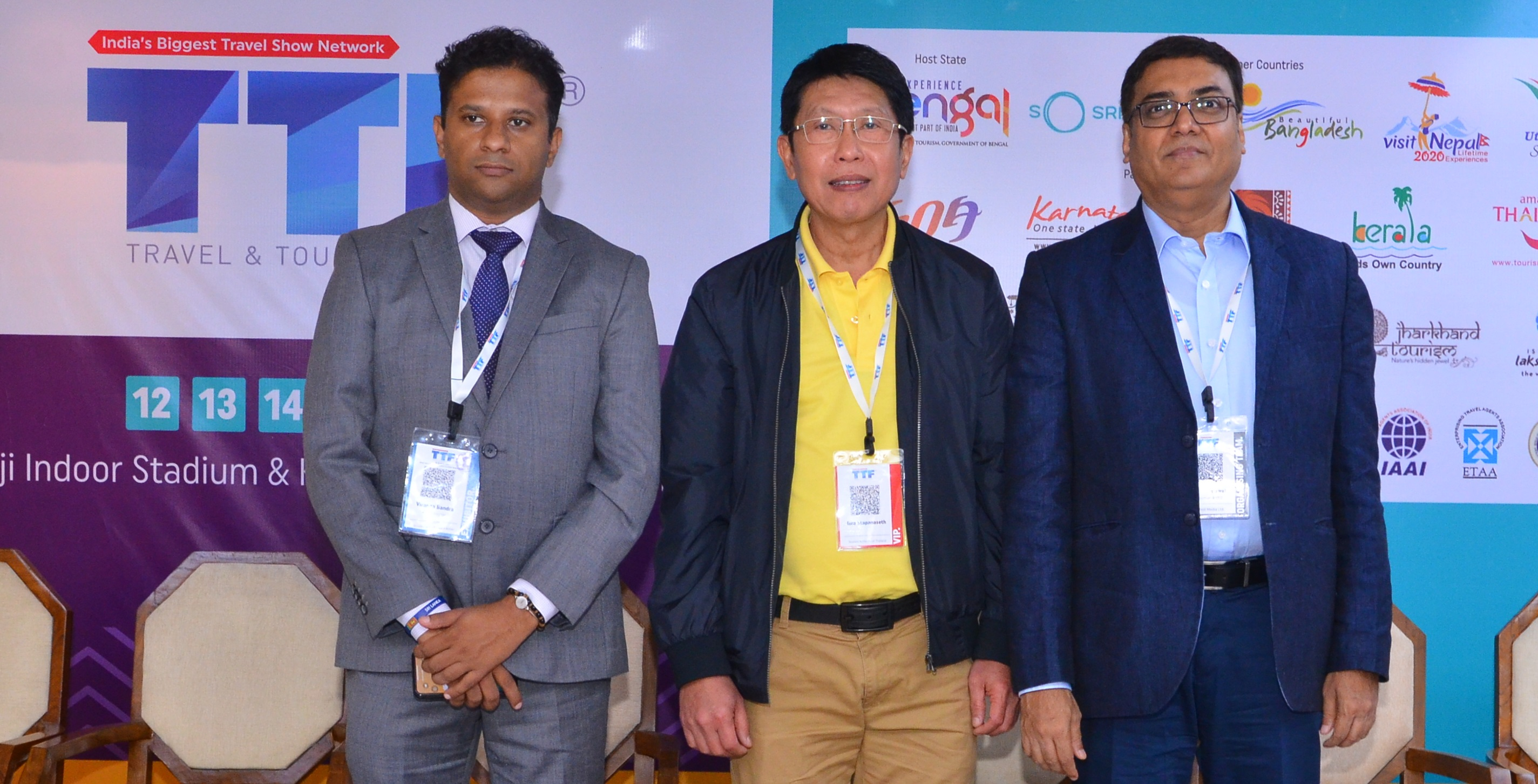 Viranga Bandara, assistant director - marketing, Sri Lanka Tourism Promotion Bureau, Isra Stapanseth, director, tourism authority of Thailand, New Delhi & Sanjiv Agarwal, chairman & CEO, Fairfest Media at the TTF 2019