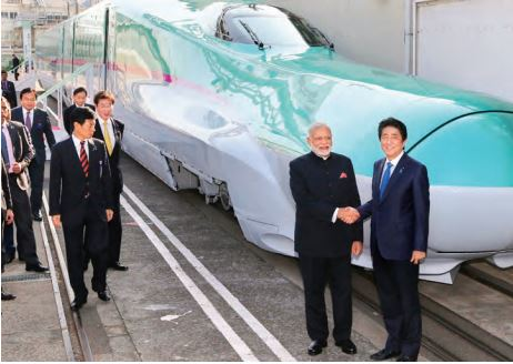 The bullet train project has been facing difficulties in getting land and could be delayed beyond its deadline