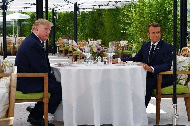 trump-macron-meet-ahead-of-g7