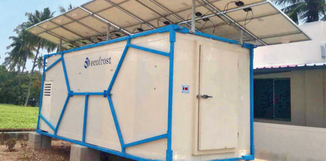 Ecofrost: A Made in India solar-powered cold storage to reduce crop spoilage