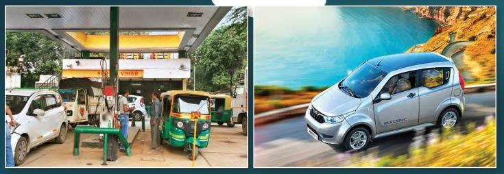 Station CNG à Delhi ; la Mahindra electric E20