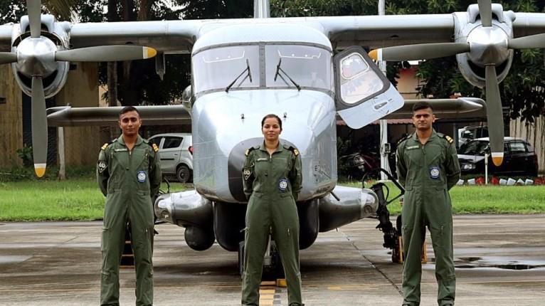La première femme pilote dans la marine indienne