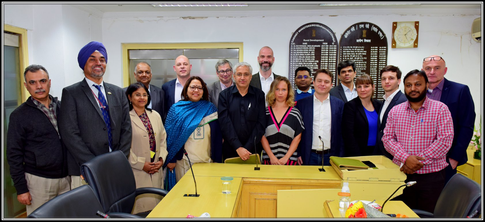 The European delegation meets Ministry of rural development, government of India