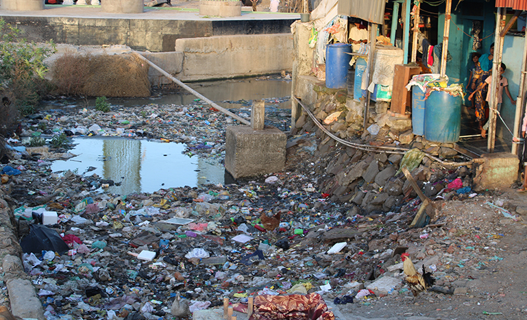 Access to clean water is a luxury for slum dwellers in Mumbai, like this slum in Kurla, a neighbourhood in eastern Mumbai