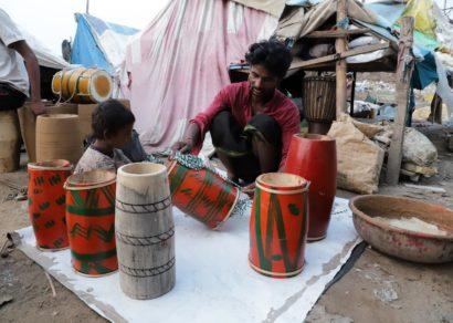 Delhi's drum makers abandon art for rag picking during pandemic
