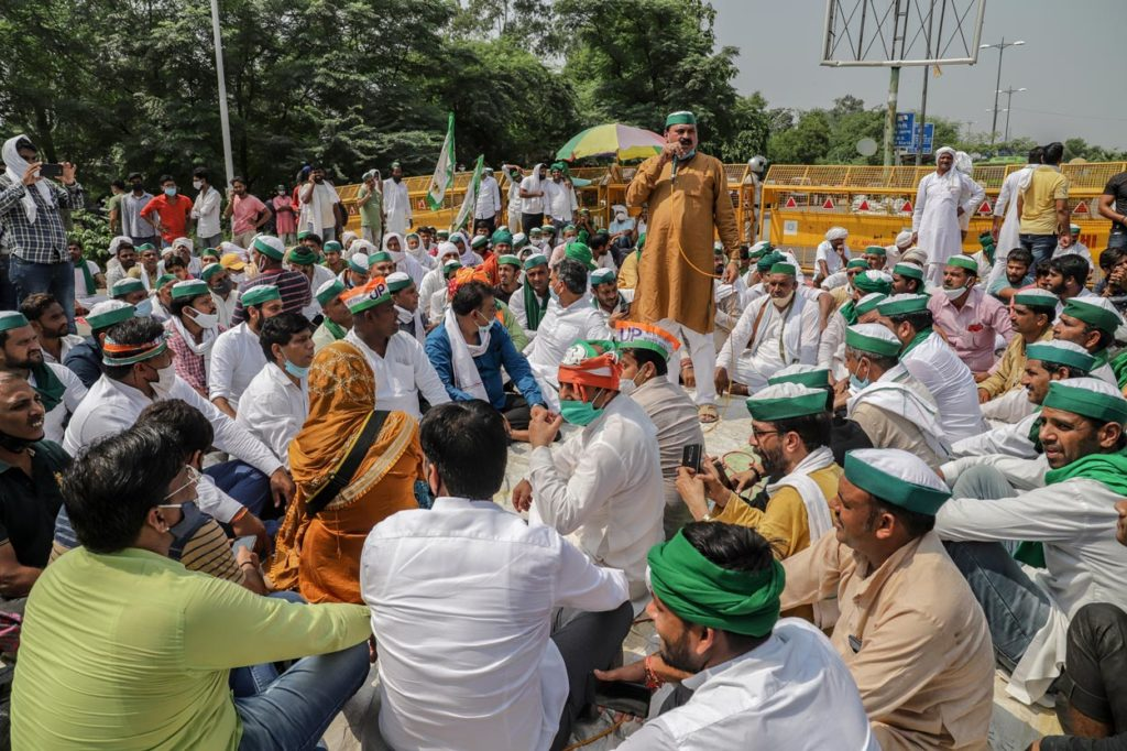 farmers protest in delhi