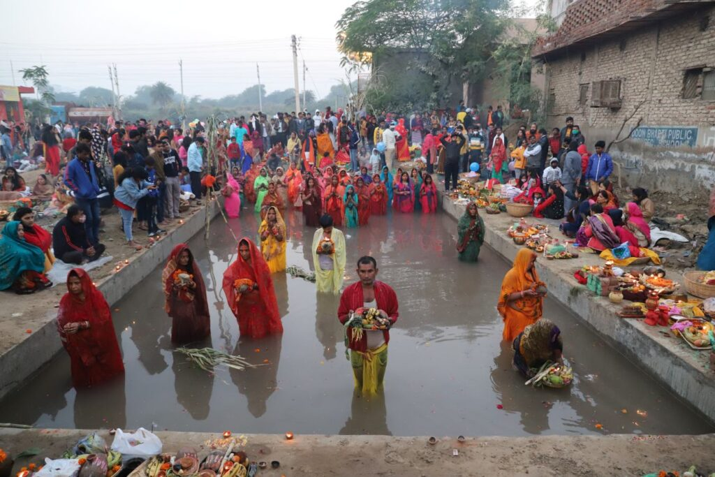 chhath puja pond