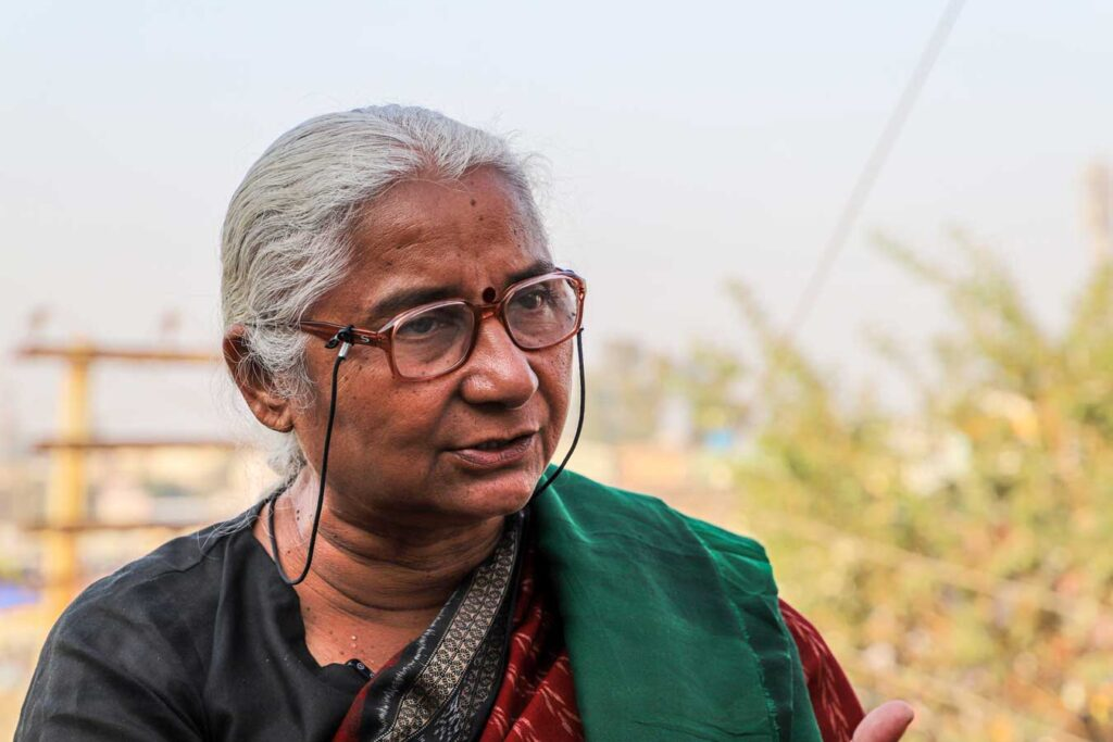 Medha Patkar says the protest is against the government and large corporates (MIG photos/Aman Kanojiya)