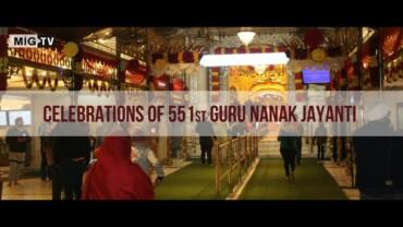 Celebrations of 551st Guru Nanak Jayanti in New Delhi's Bangla Sahib Gurudwara