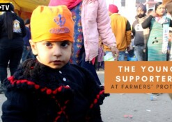 The young supporters at Farmers' protest