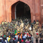 protestor at red fort
