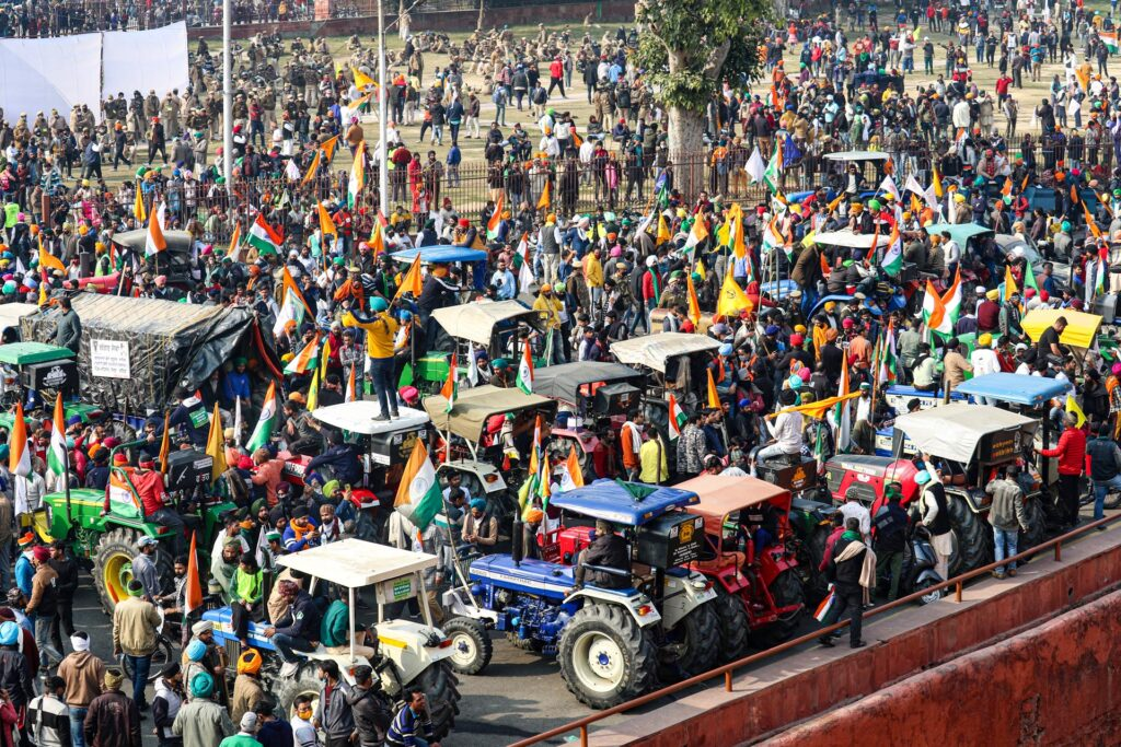 tractor rally at red fort