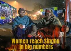 Women protestors at Singhu border prepare for Republic Day