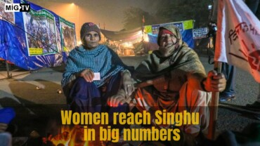 Women protestors at Singhu border prepare for Republic Day