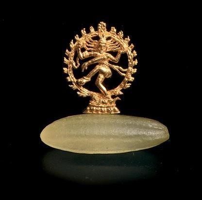 miniature gold Nataraja statue