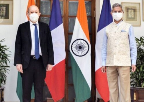 Le Drian visit cements preparations for Modi visit to Paris
