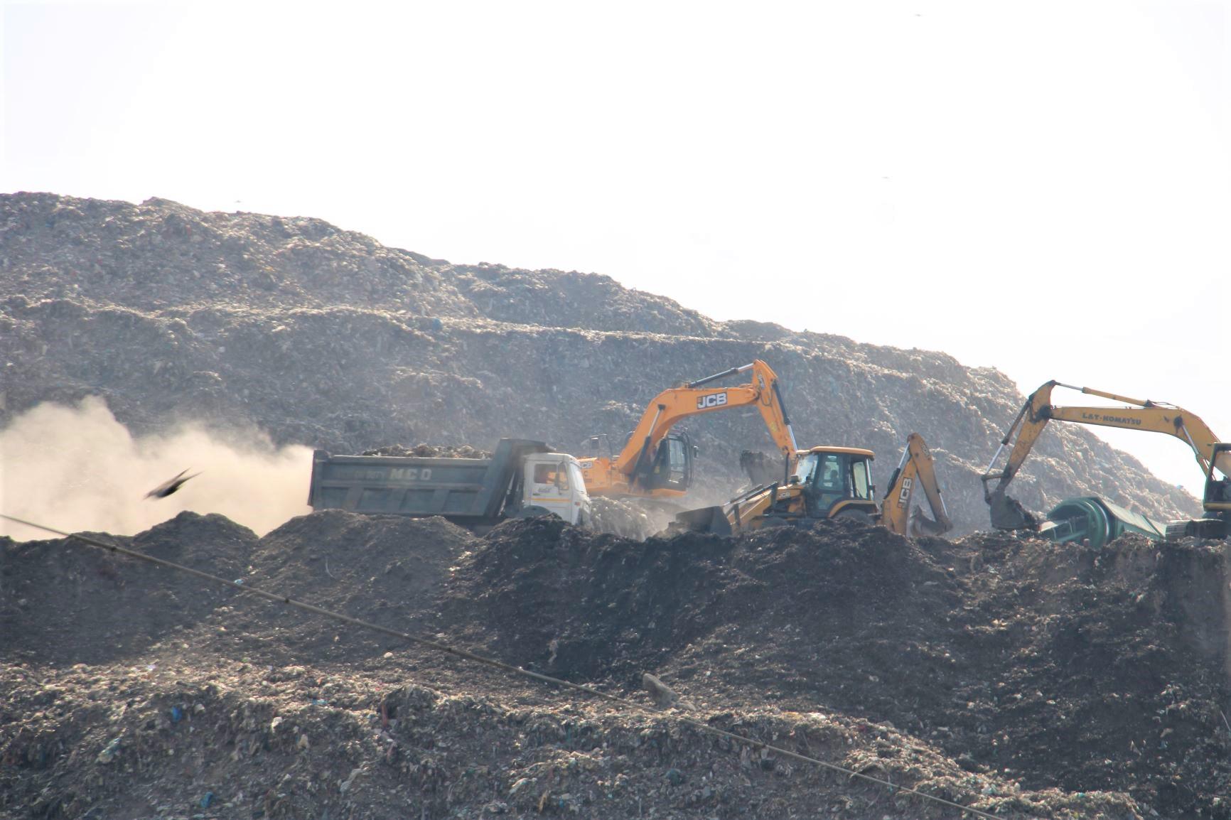 Ever-growing garbage hills of Delhi