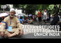 Afghan refugees protest against UNHCR India
