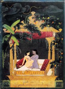 Krishna_et_Radha_dans_un_pavillon