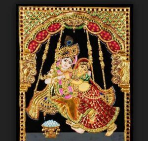A South-Indian Tanjore painting