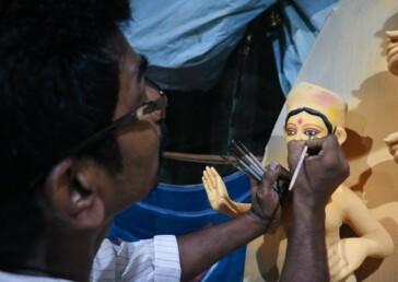 Durga Puja preparations enter last lap in Delhi's CR Park