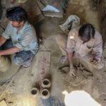 Diwali lights up Potters' Village in Delhi